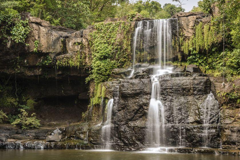 Klong Chao Waterfall in Koh Kood, Thailand