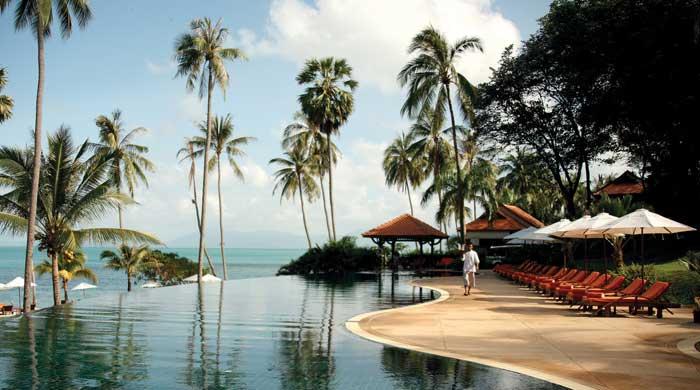 Pool at Belmond Napasai, Koh Samui, Thailand