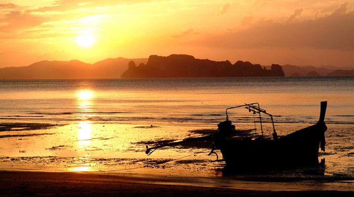 The beach, Tubkaak, Thailand