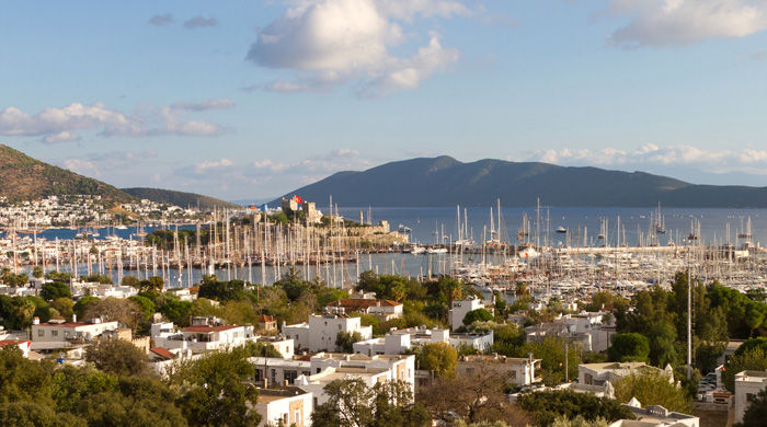 The city of Bodrum, Turkey