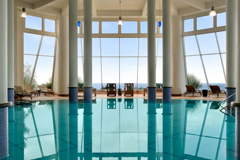 Indoor pool at Kempinski Hotel, Barbaros Bay