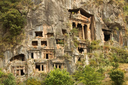 Rock tombs Fethiye, Turkey
