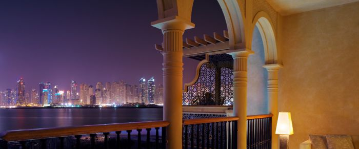 Dubai skyline from One & Only The Palm