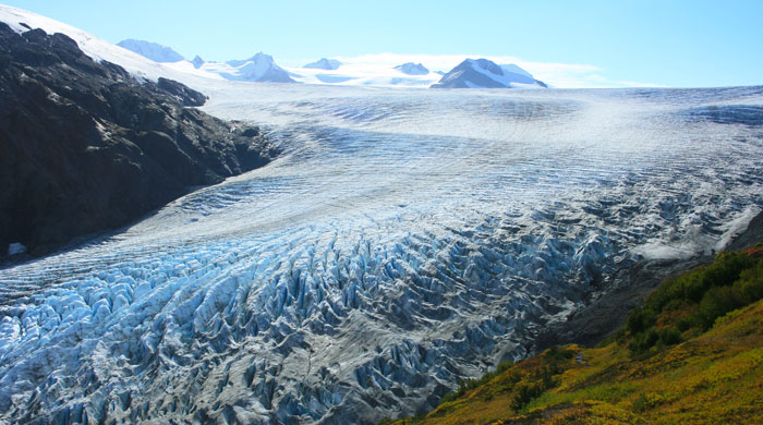 A glacier in the Kenai Peninsula, Alaska