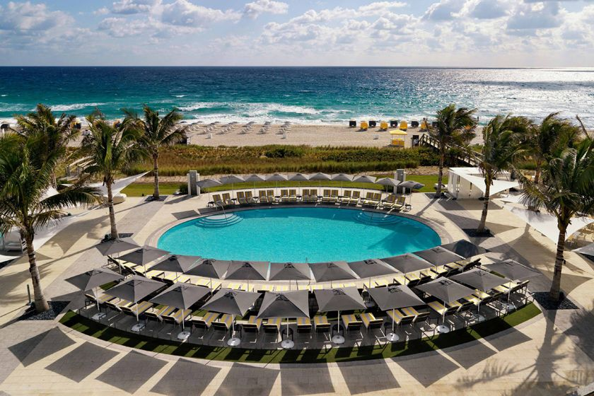 Outdoor pool at Boca Raton Resort, Florida