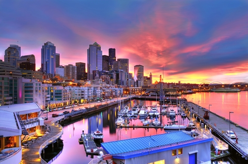 Seattle's bustling waterfront