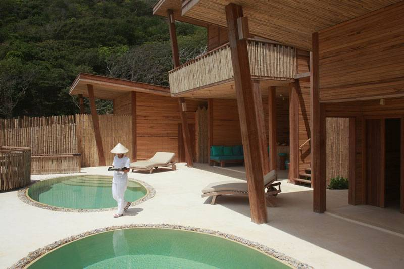 Spa treatment pools, Six Senses Con Dao, Vietnam