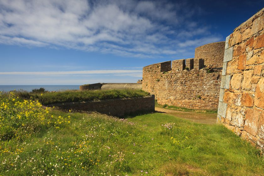 Castle in Guernsey, Channel Islands