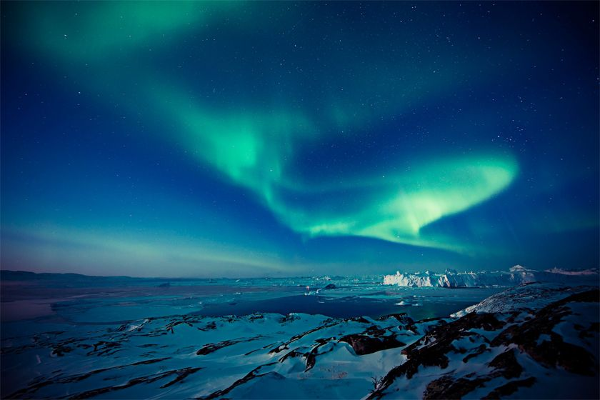 Northern Lights in Ilulissat - image by Andre Schoenherr