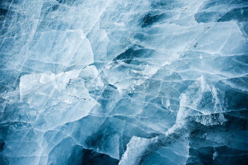 Ice patterns in Ilulissat - image by Andre Schoenherr