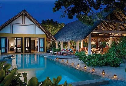 Beach villa at the Four Seasons Landaa Giraavaru
