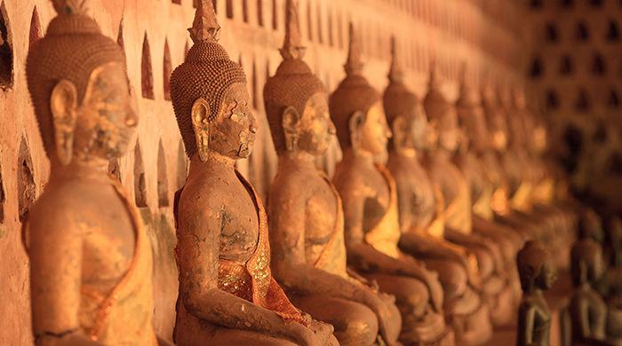 Buddhas, Sisaket Vientiane, Laos