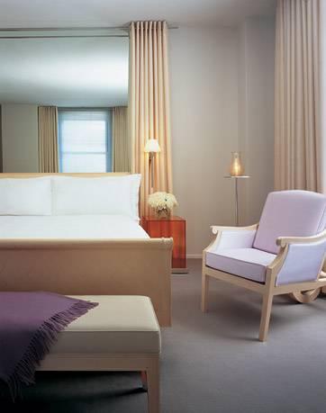 Clift Hotel bedroom