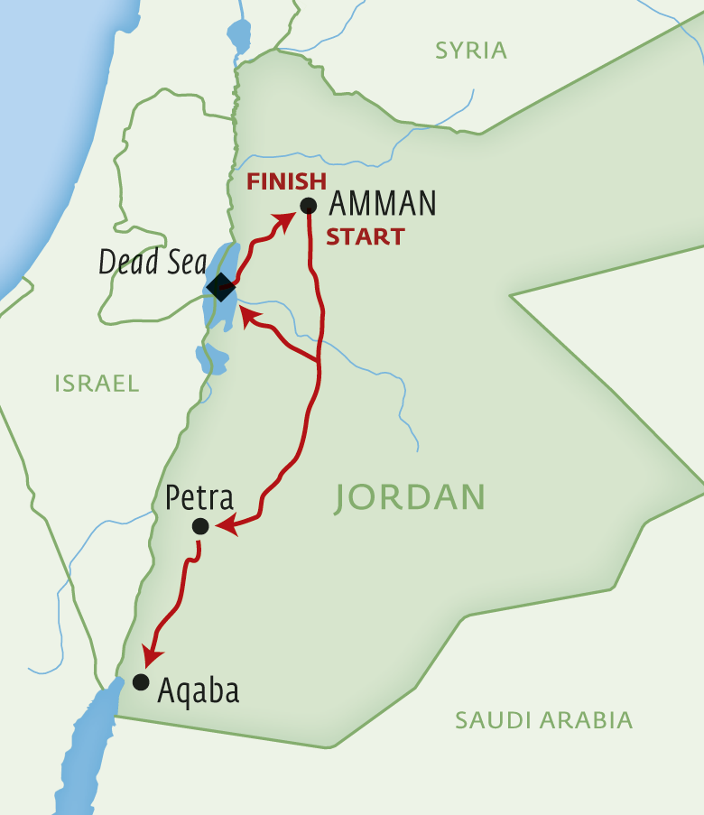 Map for Jordan Uncovered
