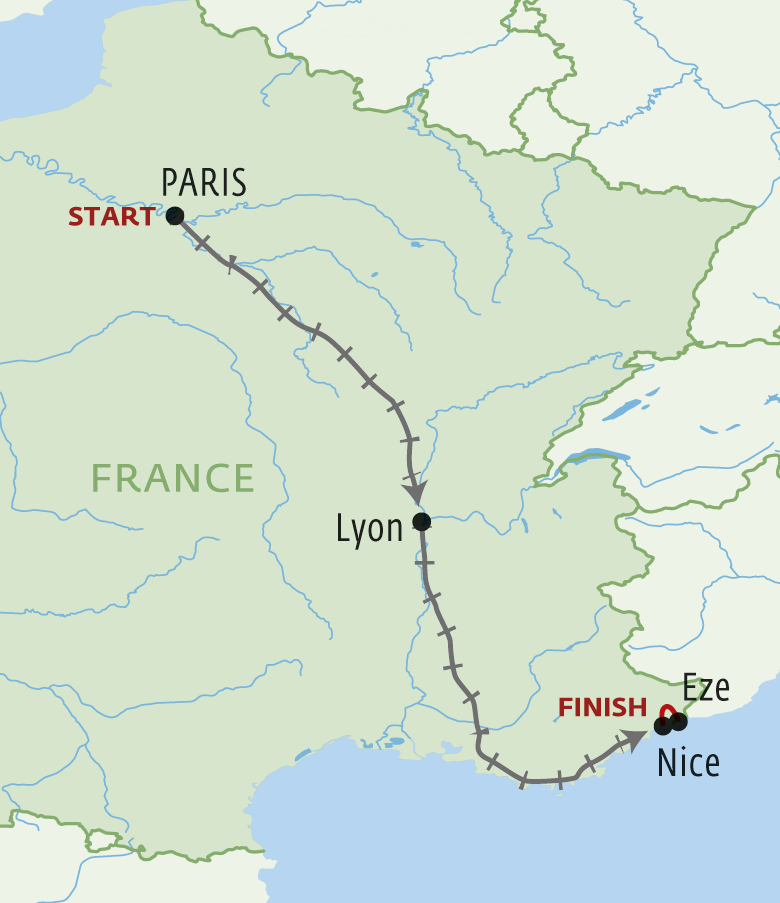 Map for From Provence to Paris