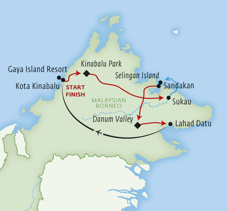 Borneo Island: Best Of Borneo Including Gaya Island