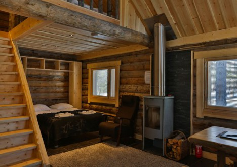 Nangu Log Cabin, Nellim Wilderness Hotel, Lapland, Finland