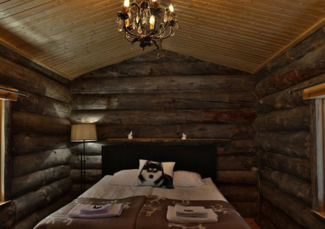 Honeymoon Log Cabin, Nellim Wilderness Hotel, Lapland, Finland