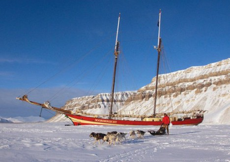 Basecamp Ship in the Ice, Longyearbyen, Svalbard